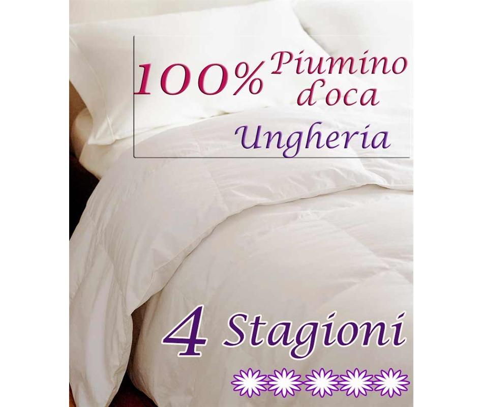 brand new 6a202 b0fcb Piumone 4 Stagioni 100% Piumino Ungheria - Matrimoniale